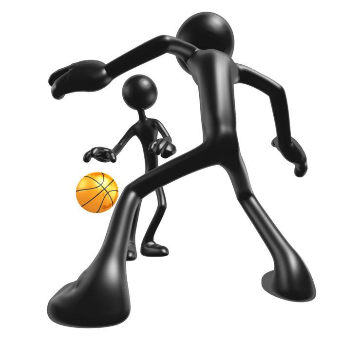 Michael Jordan, Bryon Russell, Basketball Challenge